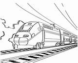 Train Outline Bullet Clipart Coloring Pages Passenger Printable Cliparts Clip Metro Sheet Cartoon Colouring Drawings Working Preschoolers Library Getcolorings 66kb sketch template
