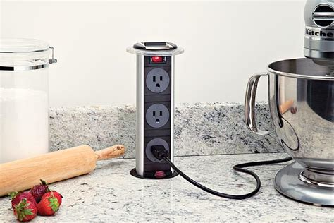pop up electrical outlet for kitchen island cupboards kitchen and bath pop up plugs counter 9736