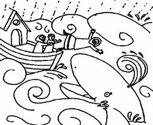 Jonah And The Whale Illustration Coloring Page Netart