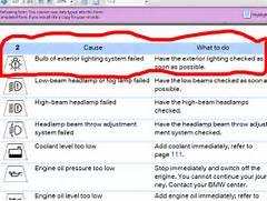Bmw Dashboard Symbols Bmw X Dashboard Lights Symbols Bmw - Warning signs on bmw dashboard