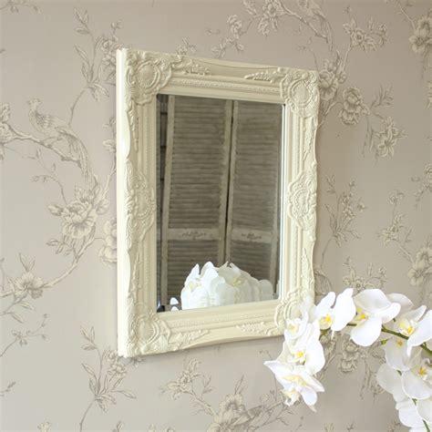 shabby chic mirror uk ornate cream rococo wall mirror shabby vintage chic bedroom hallway living room ebay