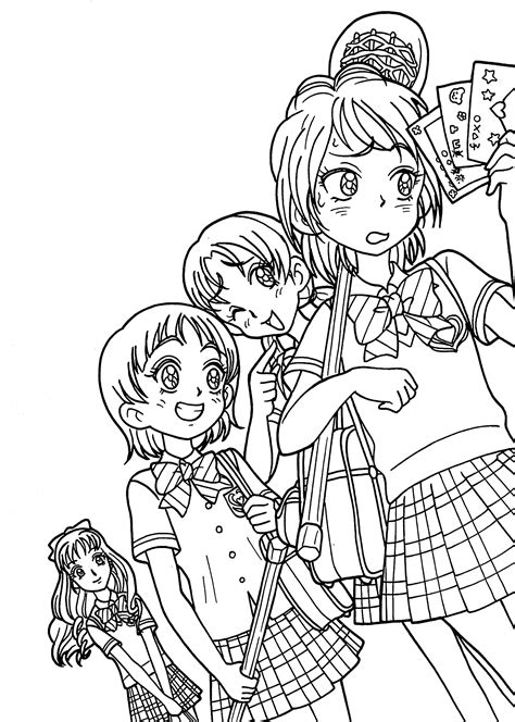 anime coloring pages coloring pages  children