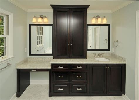 bathroom vanity with built in makeup area makeup vanity decorating ideas closet traditional with