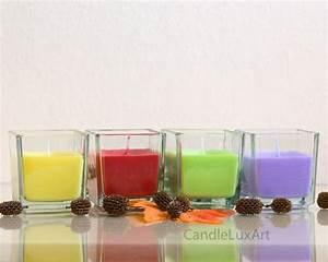 Kerze In Glas : kerze im w rfel glas 4 farben 100881 ~ Markanthonyermac.com Haus und Dekorationen