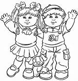 Coloring Pages Colouring Children Printable Friends Kid Child Cabbage Childrens Dolls Patch Barbie sketch template