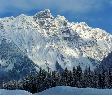 rogers pass in winter a photo from british columbia western trekearth
