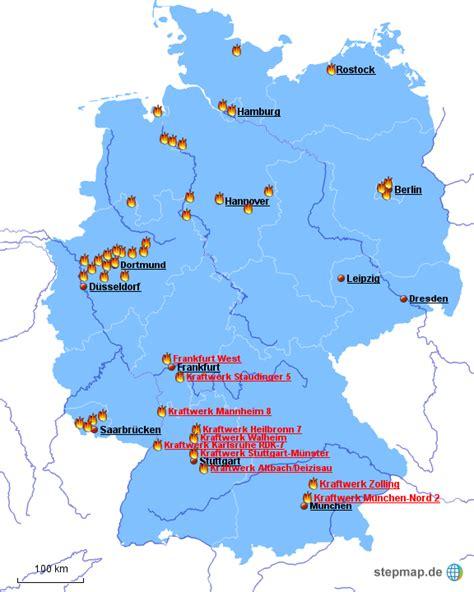 größe deutschland stepmap steinkohlekraftwerke in deutschland landkarte