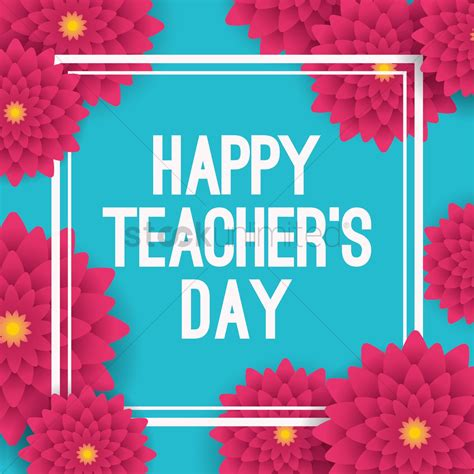 happy teachers day design vector image