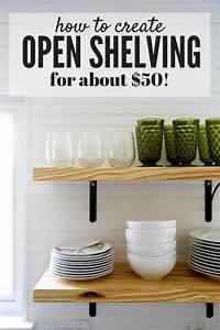 DIY Open Shelving A Quick Tutorial Love Renovations