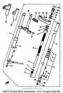 Yamaha Motorcycle 1979 Oem Parts Diagram For Front Fork