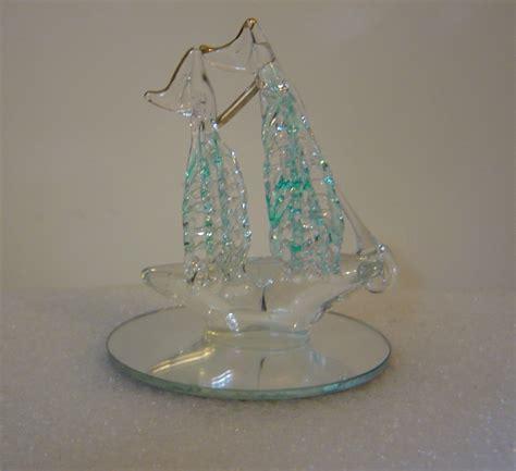 spun glass ship figurine or christmas ornament sold to