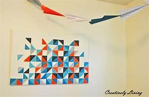 Diy geometric wall art nursery project creatively