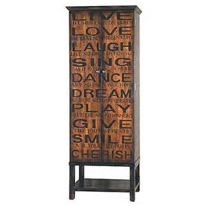 buy pulaski inscribed large wine cabinet from bed bath beyond