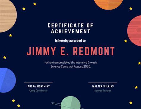 customize  achievement certificate templates  canva