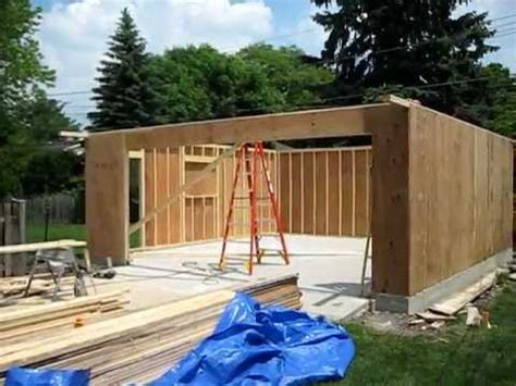 how to make a garage garage construction