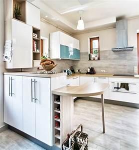 Arbeitsplatte Küche Beige : holz arbeitsplatten machen die moderne k che gem tlich ~ Indierocktalk.com Haus und Dekorationen