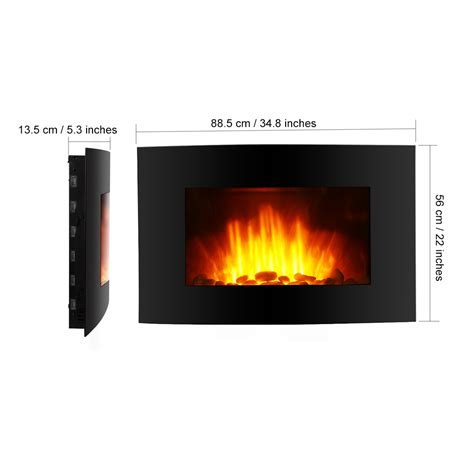 room adjustable led electric wall mount fireplace