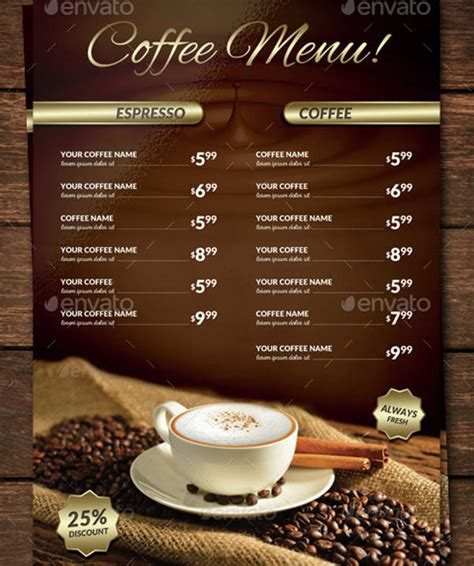 Choose from over a million free vectors, clipart graphics, vector art images, design templates, and illustrations created by artists worldwide! 15+ Coffee Shop Menu Designs & Templates - PSD, AI   Free ...