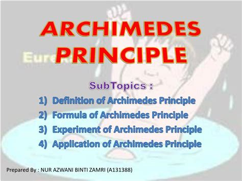 PPT - ARCHIMEDES PRINCIPLE PowerPoint Presentation, free ...