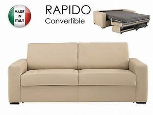 canape convertible ouverture rapido 140cm dreamer cuir With canapé cuir convertible couchage quotidien