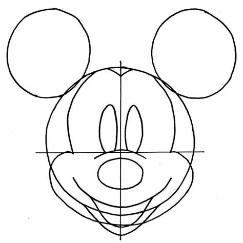 draw mickey mouse easy step  step instructions