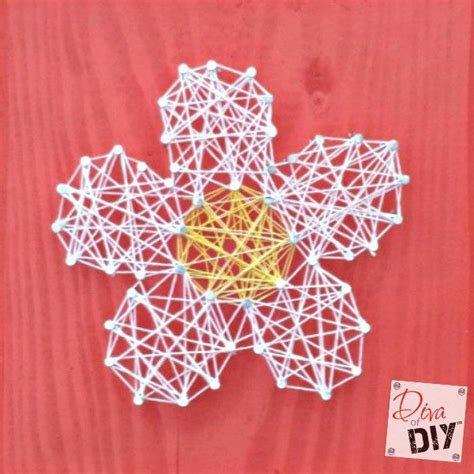 easy  inexpensive string art valentines day craft