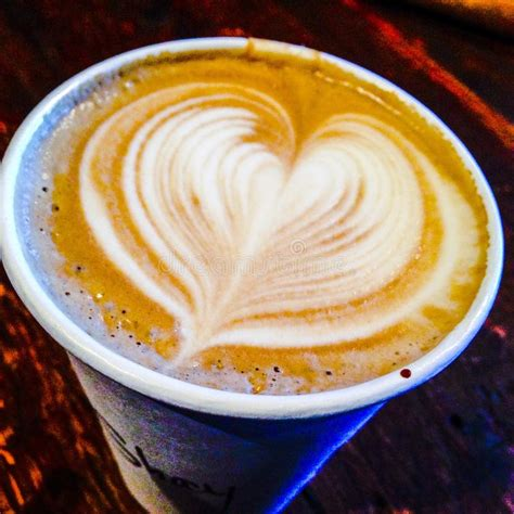 Latte art is one of the most beautiful things one can do with coffee, and latte hearts are the epitome of that beauty. Latte Heart Stock Photo - Image: 54729414