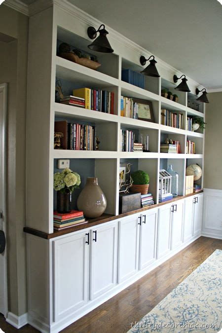 Thrifty Decor Chick  Diy Built In Bookcases W Butcher