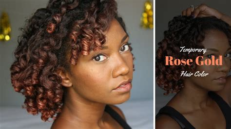 rose gold hair color demo review youtube