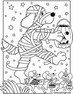 Dessin Facile Halloween : coloriage halloween facile chien momie dessin ~ Melissatoandfro.com Idées de Décoration