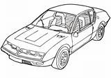 Coloring Renault Pages Slingshot Cars Vehicle Alpine A310 Template sketch template