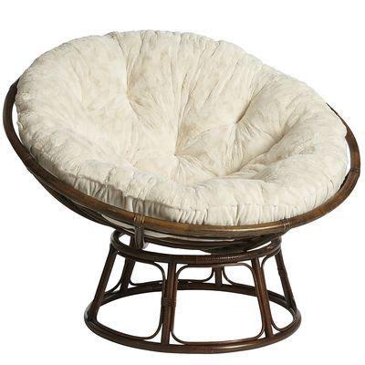 papasan chair frame and cushion papasan cushion fuzzy ivory