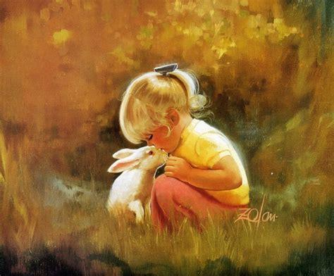 人体油画图片-小孩油画图片大全-ZOL桌面壁纸
