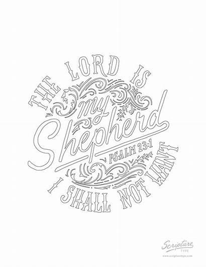 Psalm Coloring Drawing Scripture Type Getdrawings