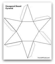 printable  pyramid template color  cut   fold