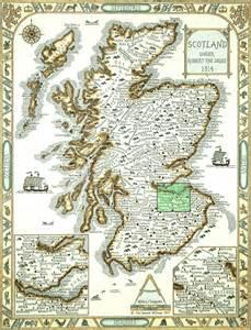 Scottish Clan Map Scotland