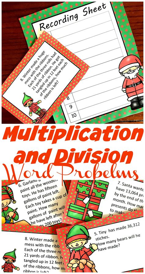 For example, for non negative integers it may be tolerable to think that the numeric result of a product. FREE Challenging Christmas Multiplication and Division Word Problems | Division word problems ...
