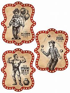 Large Vintage Circus Poster Decorations  Halloween Circus