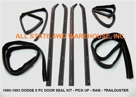 8 Piece Rubber Door Window Weatherstrip Seal Kit For 80-93