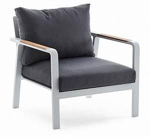 Fauteuil De Jardin Blanc : fauteuil de jardin aluminium blanc et teck havana 429 salon d 39 t ~ Teatrodelosmanantiales.com Idées de Décoration