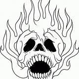 Skull Coloring Sugar Cool Skulls Advanced Adults Cow Printable Flaming Pdf Scary Dragon Pitbull Desenhos Drawing Colorir Ice Desenhar Imprimir sketch template