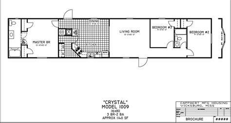 16x80 Mobile Home Floor Plans by Mobile Home Floor Plans Bestofhouse Net 38110
