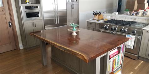 wood slab kitchen island wood slab kitchen island kitchen design ideas 1603