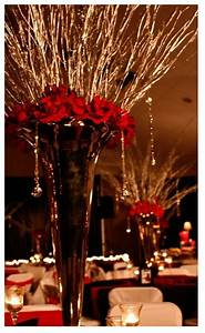 Colorful Hanging Lights Gold Branches And Red Roses In Pilsner Mp Wedding