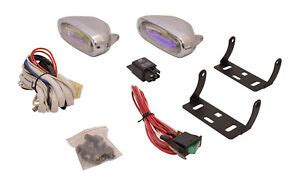 Universal Oval Fog Lights Driving Lamps Wiring Kit