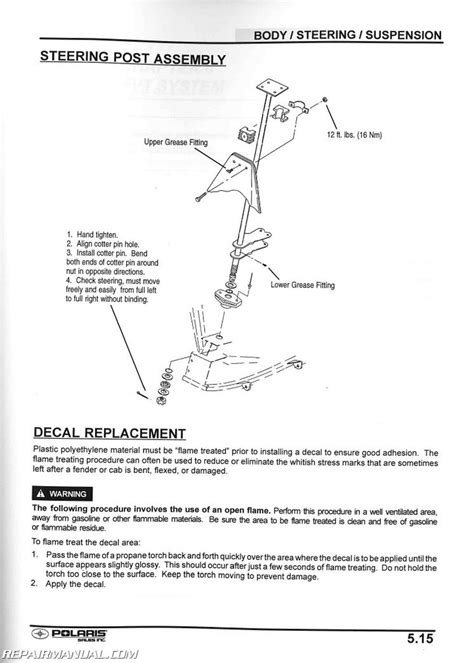 polaris xplorer   atv service manual