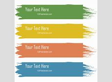 Retro Grunge Colorful Text Banners Vector 123Freevectors