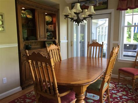 China Cabinet And Dining Room Set by Drexel Heritage Signature Dining Set Table Chairs