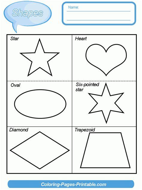 six basic shapes worksheets for preschoolers six best