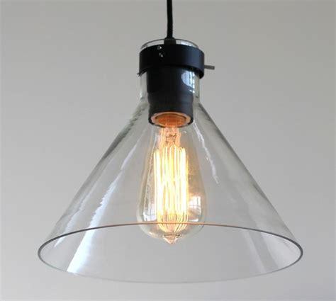 loft industrial glass pendant lighting in black